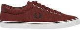 Fred Perry Underspin Canvas Trainers, Port