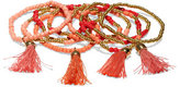New York & Co. Nine-Row Beaded Tassel Bracelet