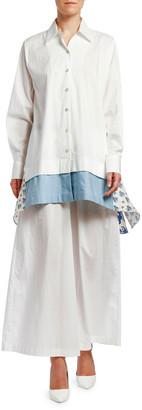 Antonio Marras Cotton Patchwork-Hem Shirt