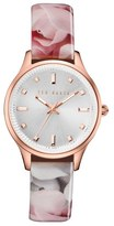 Ted Baker Women's 'Dress Sport' Patent Leather Strap Watch, 32Mm