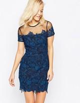 Greylin Kamik Lace Dress With Mesh Yooke