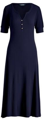 Lauren Ralph Lauren Ralph Lauren Cotton Fit-and-Flare Dress
