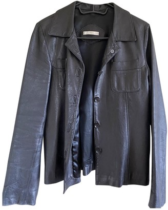 Barneys New York Black Leather Jacket for Women Vintage