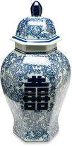 AA Importing 14 Jolie Ginger Jar, Blue/White