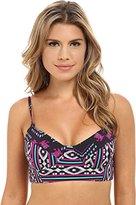 Roxy Women's Traveling Gypsy Underwire Bandeau Bikini Top