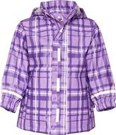 Playshoes Plaid Patterned Waterproof Girl's Rain Coat 12-18 Months