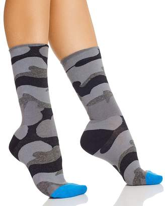 Hue Camo Crew Socks