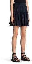 AllSaints Alia Tiered Silk Skirt