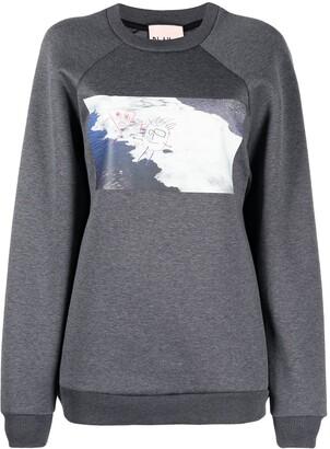 Plan C Illustration-Style Print Sweater