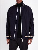 Sacai Tipped cotton bomber jacket