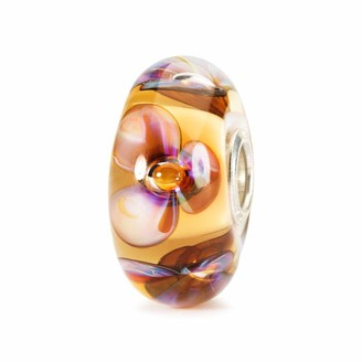 Trollbeads Glass Bead Amber Violets