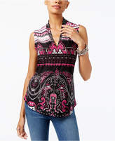 INC International Concepts Printed Top, Created For Macy's