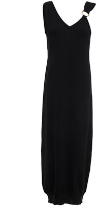 Boutique Moschino Ring-embellished Cotton Midi Dress