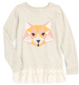 Toddler Girl's Tucker + Tate 'Britton' Graphic Lace Hem Tunic