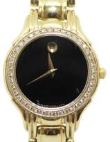Movado Museum 18K Yellow Gold & Black Dial 25mm Womens Watch