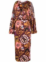 Thumbnail for your product : La DoubleJ Floral Long-Sleeve Shift Dress