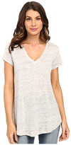 Heather Linen V-Neck Tee
