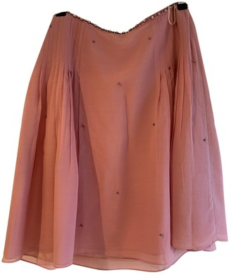 Tocca Pink Silk Skirt for Women
