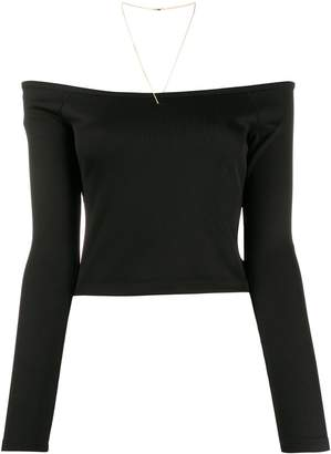 Alexander Wang off-the-shoulder cropped top
