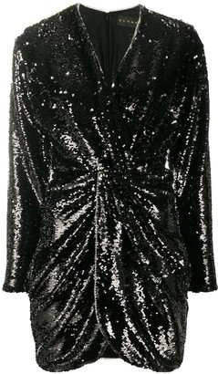 Dundas Twist Front Sequin Mini Dress