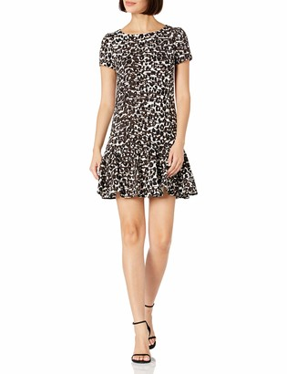 Betsey Johnson Women's Flounce Hem Sheath Dress