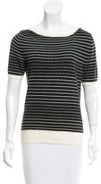 Salvatore Ferragamo Striped Knit Top