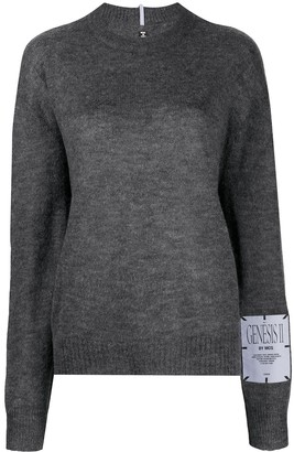Mcq Swallow High Neck Knit Jumper