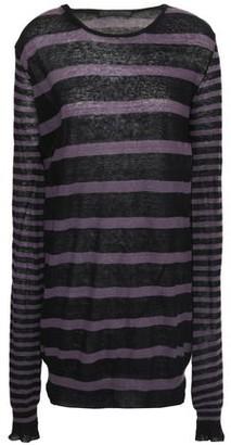 Haider Ackermann Striped Cotton And Cashmere-blend Sweater