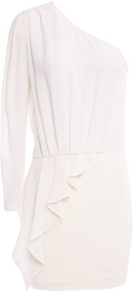 IRO Cypress One-shoulder Ruffled Crepe Mini Dress