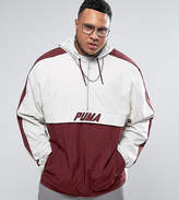 Puma Plus Vintage Half-Zip Jacket In Red Exclusive To Asos