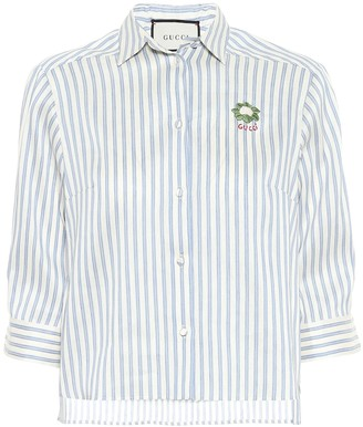 Gucci Striped linen and cotton shirt