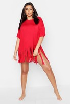boohoo Plus Tassel Beach Dress