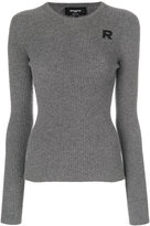 Rochas crew neck ribbed sweater