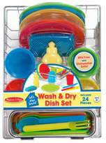 Melissa & Doug 24 Piece Wash and Dry Dish Set