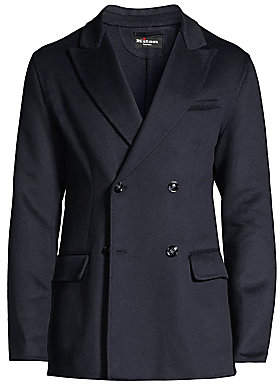 Kiton Men's Cashmere Double-Breasted Jacket