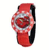 Disney Princess Disney Cars Kids Time Teacher Red Nylon Strap Watch