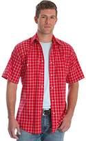 Wrangler Men's Tall Size Wrinkle Resist Short Sleeve Snap Front Shirt