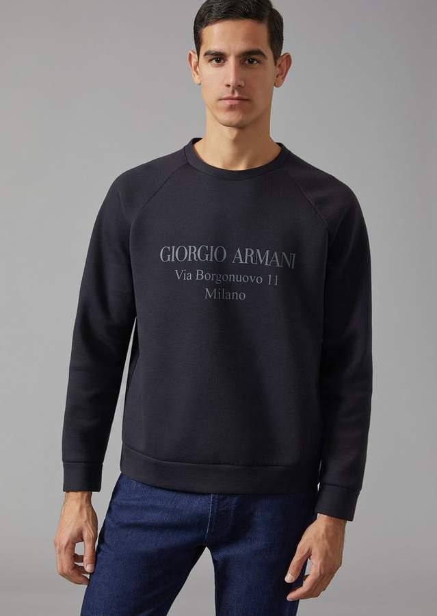 "Giorgio Armani Sweatshirt With ""Borgonuovo"" Print"