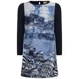 Navy Zebra Print Dress