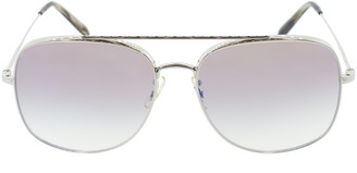 Oliver Peoples Taron Sunglasses - Silver and Tan