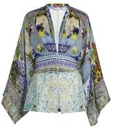 Camilla My Majorelle-print silk-chiffon blouse