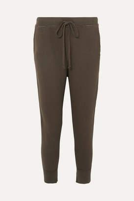 Nili Lotan Nolan Distressed Cotton-jersey Track Pants - Brown