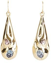 Alexis Bittar Stone Studded Crumpled Drop Earrings