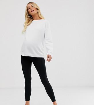Asos 4505 4505 Maternity legging in cotton and black spandex