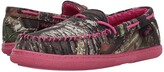 M&F Western Mossy Oak Moccasin Slippers (Hot Pink/Mossy Oak Camo) Women's Slippers