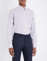 Turnbull & Asser Basketweave informalist-cut cotton shirt