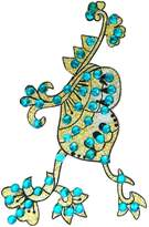 Ibacrafts Teal Acrylic Bead Golden Glitter Art Temporary Indian Back Shoulder Tattoo