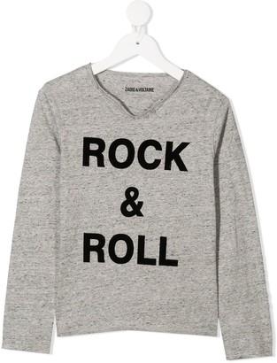 Zadig & Voltaire Kids TEEN Boxer long-sleeve T-shirt