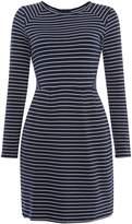 Joules Long Sleeve Crew Neck Midi Textured Jersey Dress