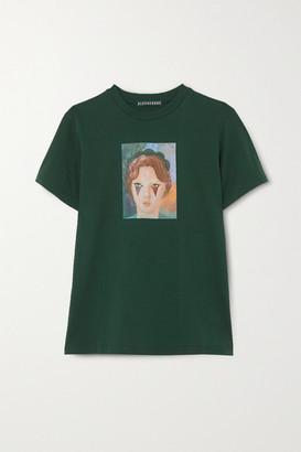 ALEXACHUNG Printed Cotton-jersey T-shirt - Dark green